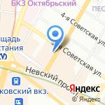 Петербургский стиль на карте Санкт-Петербурга
