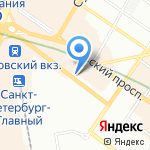 Союз Рантье на карте Санкт-Петербурга