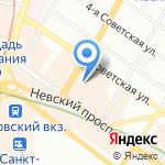 ЦЕНТР ПРОФЕССИОНАЛЬНОЙ ЭЛЕКТРОЭПИЛЯЦИИ на карте Санкт-Петербурга