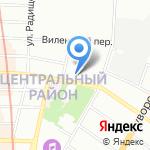 Демократ на карте Санкт-Петербурга