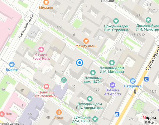 Товарищество собственников жилья «4-я Советская 9» на карте Санкт-Петербурга