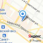 Автобус Тур на карте Санкт-Петербурга