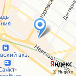 Слон на карте Санкт-Петербурга