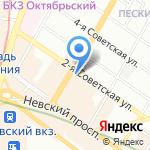 АСТЕР ТРЭВЕЛ СЕРВИС на карте Санкт-Петербурга