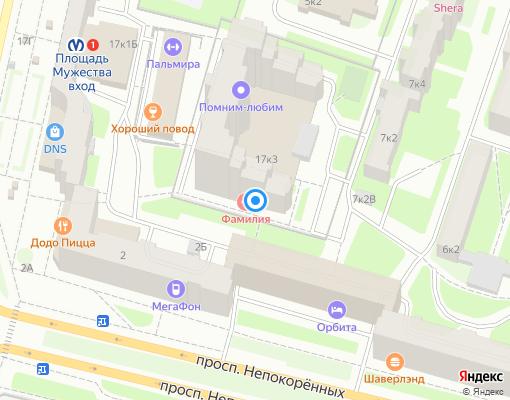 Товарищество собственников жилья «Лесное 17» на карте Санкт-Петербурга