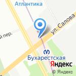 Ярко на карте Санкт-Петербурга