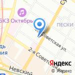 Петербургская недвижимость на карте Санкт-Петербурга