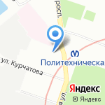Аквафор на карте Санкт-Петербурга