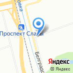 Астра на карте Санкт-Петербурга