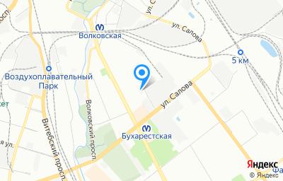 Местоположение на карте пункта техосмотра по адресу г Санкт-Петербург, ул Бухарестская, д 22 к 2 литер а