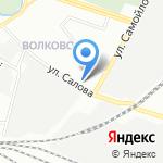 Магазин продуктов и бытовой химии на карте Санкт-Петербурга