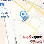 Храм Феодоровской Иконы Божией Матери на карте Санкт-Петербурга
