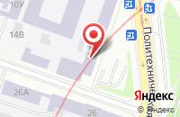Схема проезда до компании Литий-ионные технологии при ФТИ им. А.Ф. Иоффе в Санкт-Петербурге