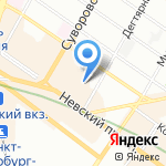 Баунти тревел на карте Санкт-Петербурга