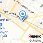 ЦАН-мировая недвижимость на карте Санкт-Петербурга