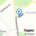Магазин канцтоваров и игрушек на карте Санкт-Петербурга