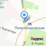 Продукты 24 часа на карте Санкт-Петербурга