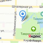Динамо на карте Санкт-Петербурга