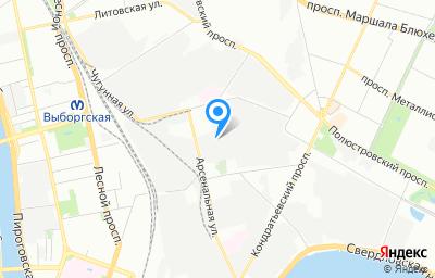 Местоположение на карте пункта техосмотра по адресу г Санкт-Петербург, ул Минеральная, д 13 литер о