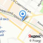 Паритет на карте Санкт-Петербурга