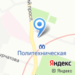 Старт кей на карте Санкт-Петербурга