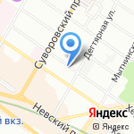 Колхи на карте Санкт-Петербурга