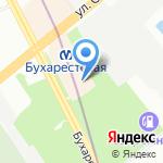 Северное Сияние на карте Санкт-Петербурга