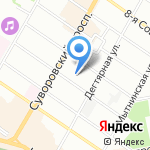 Клиника профессора Ф.Ф. Преображенского на карте Санкт-Петербурга