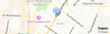 Top Gym на карте Санкт-Петербурга
