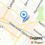 Лоренц Снэк-Уорлд Раша на карте Санкт-Петербурга
