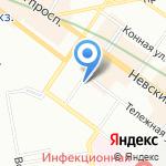 Муниципальное образование округ Лиговка-Ямская на карте Санкт-Петербурга