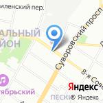 Дисконт-магазин одежды на карте Санкт-Петербурга