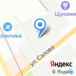 Акван на карте Санкт-Петербурга