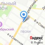 Суворовский на карте Санкт-Петербурга