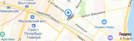 Детская художественная школа №6 на карте Санкт-Петербурга