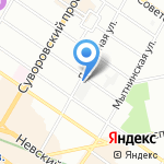 Флера на карте Санкт-Петербурга