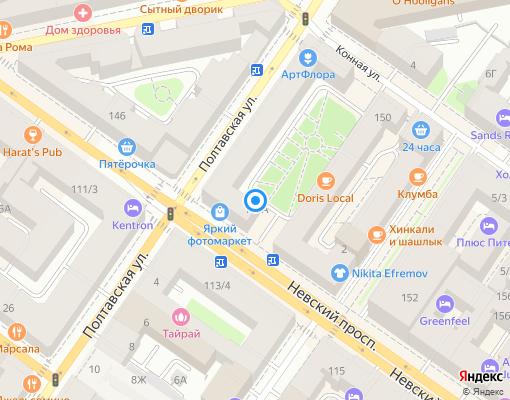 Товарищество собственников жилья «Невский пр., д. №88» на карте Санкт-Петербурга