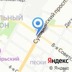 Магазин посуды и подарков на карте Санкт-Петербурга