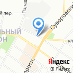 Имерули суфра на карте Санкт-Петербурга