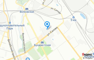 Местоположение на карте пункта техосмотра по адресу г Санкт-Петербург, ул Салова, д 57