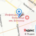 Городской консультативно-диагностический центр (вирусологический) на карте Санкт-Петербурга