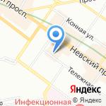 Калиняк на карте Санкт-Петербурга