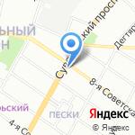 Verno на карте Санкт-Петербурга