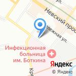 Биг-Пак на карте Санкт-Петербурга