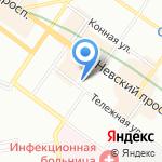 Стена на карте Санкт-Петербурга