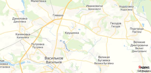 Крушинка на карте