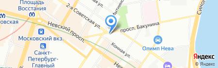 Касмет на карте Санкт-Петербурга