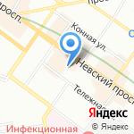 Шаг навстречу на карте Санкт-Петербурга