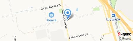 Цветовик на карте Санкт-Петербурга