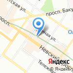 Золотое Сечение на карте Санкт-Петербурга